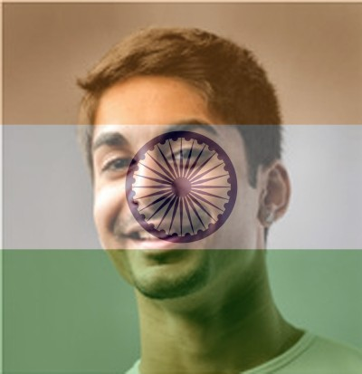 Indian Flag Overlay